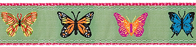 044 Butterflies Lt Green 1.25 .75