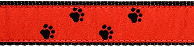092 BlackPaws on Red 1.25 .75