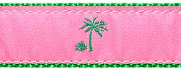106 Pink Palm Tree Ribbon