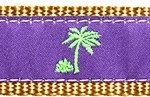 127 Purple Palm Tree Ribbon