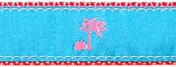 128 Turquoise Palm Tree Ribbon