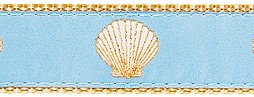 251 LightBlue Scallop Ribbon