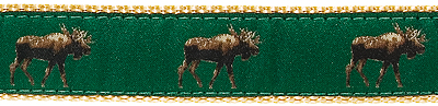 257 Moose Dark Green Ribbon