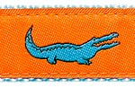 274 Orange Alligator Ribbon