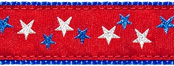 328 Red Patriotic Stars Ribbon
