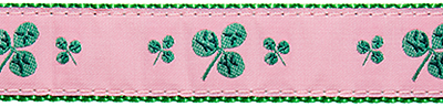 348 Pink Shamrock Ribbon