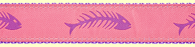 380 PurplePink Fishbones Ribbon
