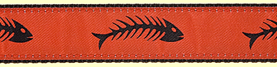 382 RedBlack Fishbones Ribbon