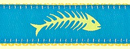386 YellowBlue Fishbones Ribbon