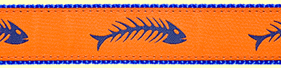 390 Royal Fishbone Orange Ribbon