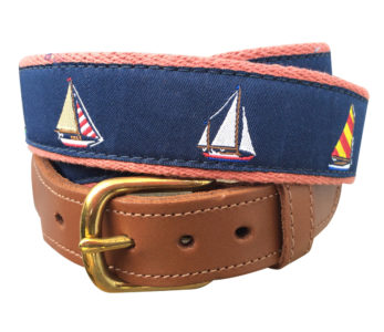 4 Sailboats Surcingle Belt