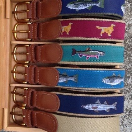 Khaki Surcingle Ribbon Belts