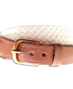 Natural Macrame Men's Belt | Preston