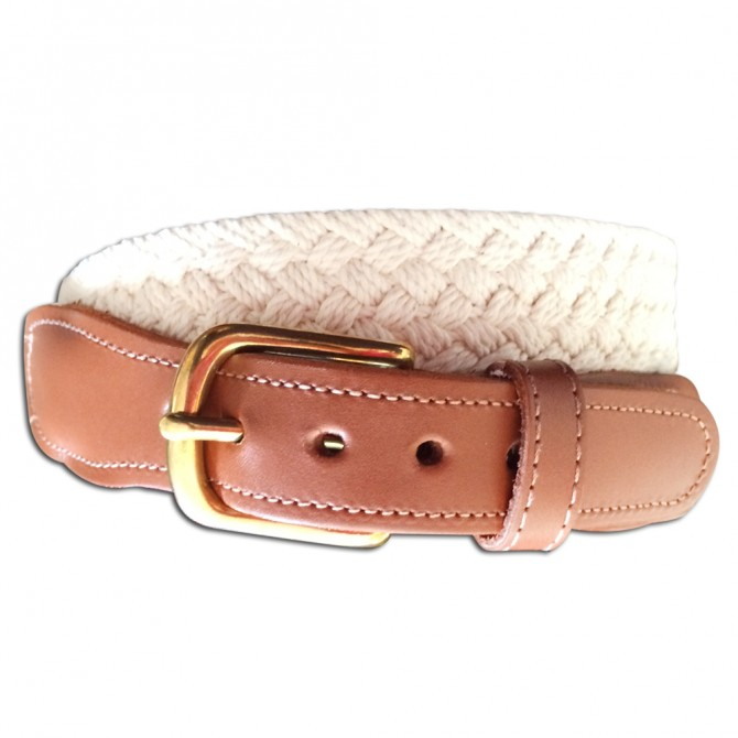 Natural Macrame Men's Belt