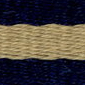 Navy Khaki Striped Surcingle | Preston Ribbons