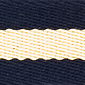 Navy Yellow Striped Surcingle | Preston Ribbons