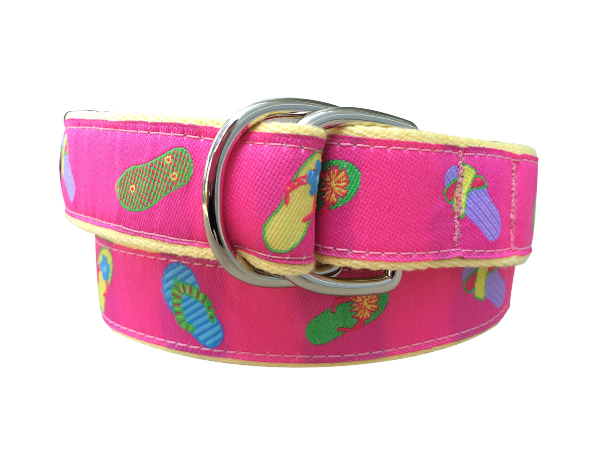 Inch Double Ring Ribbon Belt