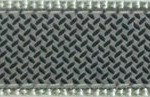 "394| Diamond Plate On Gray Ribbon .75"" / 1.25"""