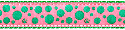 223-Green-Polka-Paws-on-Pink-.5-.75-1.25