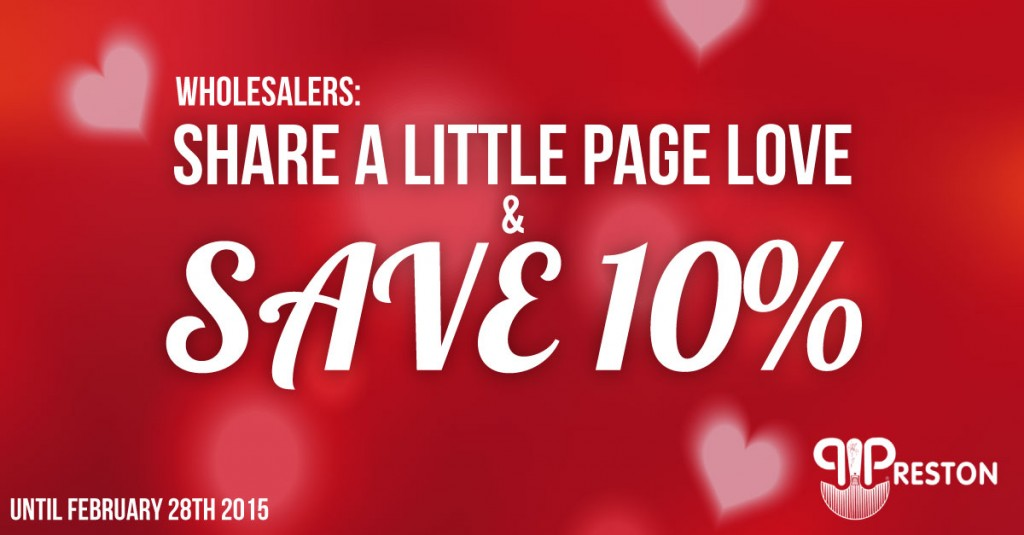 Wholesalers: Share this page to Save 10% off your next order in February!