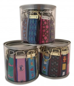 Trio of Preston Key Fobs in display canisters