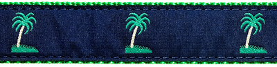 112 Blue Palm Tree Ribbon
