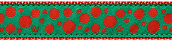 240 Red Polka Paw Green Ribbon