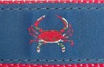 262 Red Crab Navy Ribbon