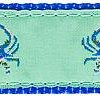 266 Blue Crab Green Ribbon