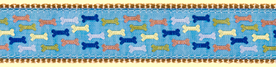 359 BlueMulti Dog Bones Ribbon