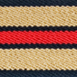 Navy Khaki Red Striped Surcingle | Preston Ribbons