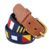 Navy Cotton A-Z Flags Men's Belt