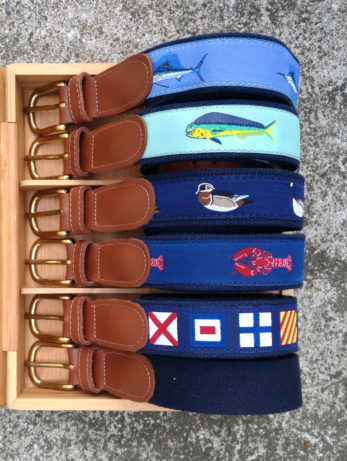 Navy Surcingle & Cotton Ribbon Belts