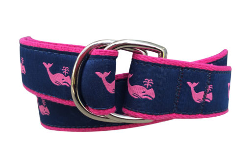Pink Whale Double Ring Belt
