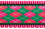 137 | Pink and Green Argyle