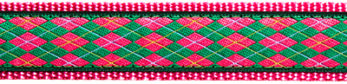 137   Pink and Green Argyle