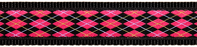 147|Black and Pink Argyle