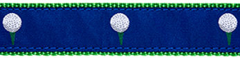 "342|Blue Golf Ball .75"" / 1.25"" Ribbon"