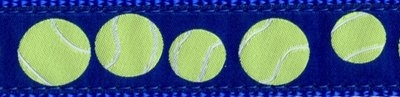 "377|Blue Tennis Balls .75"" / 1.25"" Ribbon"