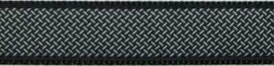 "395-Diamond Plate on Black .75"" / 1/25"" Ribbon"