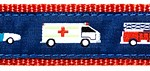 067 Emergency Vehicles Ribbon by Preston