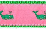 125 Kelly Whale on Pink by Preston Ribbons